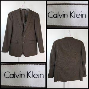 calvin klein men's suit size 42L double vented